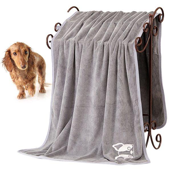 70cm 140cm Dog Cat Puppy Towel Microfiber Strong Absorbing Water Bath Pet Towel Dry Hair Dog