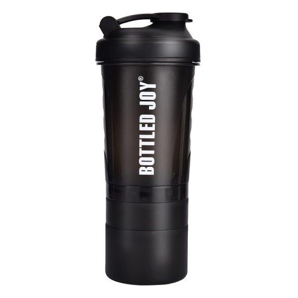BOTTLED JOY Protein Shaker Bottle Non Toxic Wide Mouth 100 Leak Proof Shake Water Bottles 27oz