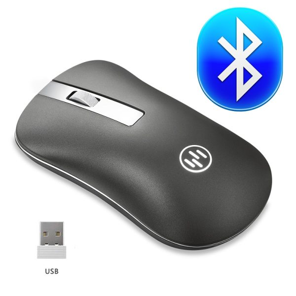 Bluetooth Mouse Wireless Rechargeable Mouse Computer Ergonomic Mice Silent Mini PC Mause 2 4GHz USB Optical