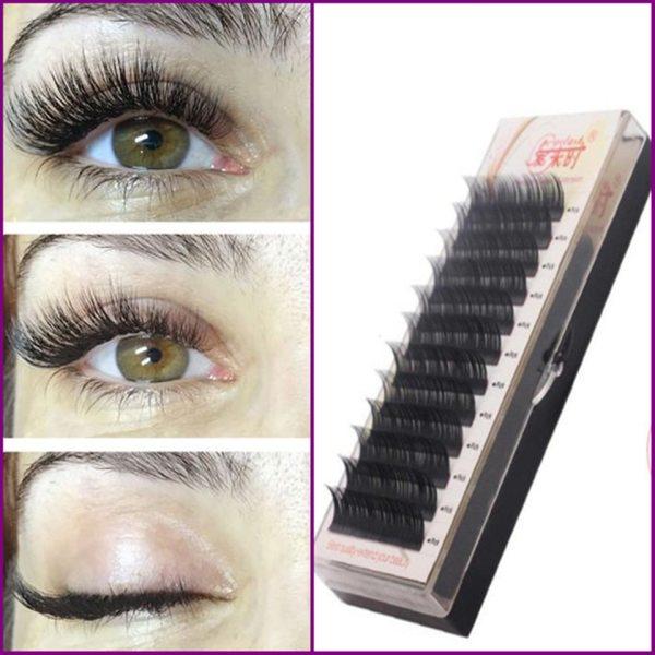 Free Shipping Individual Silk Eyelash Further All size High Quality Eyelash Extension Mink Individual Eyelash