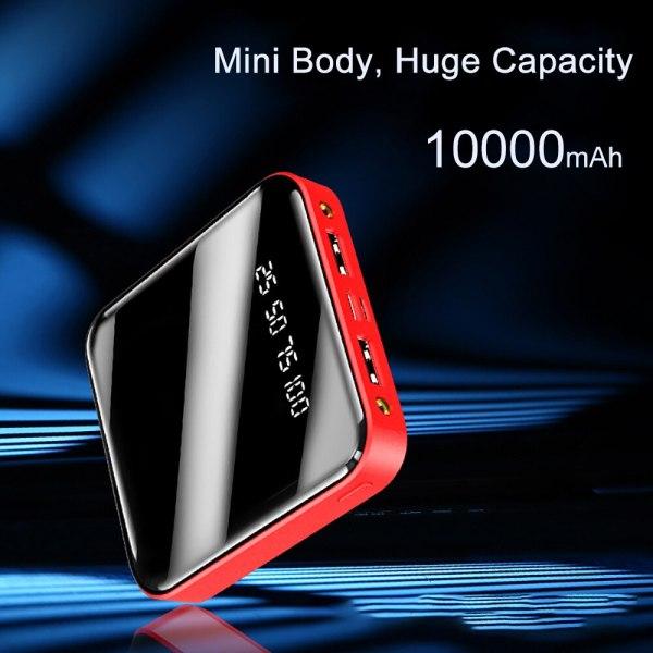PINZHENG Mini 10000mAh Power Bank For Xiaomi Mi Power Bank Portable Charger External Battery LED Digital 1
