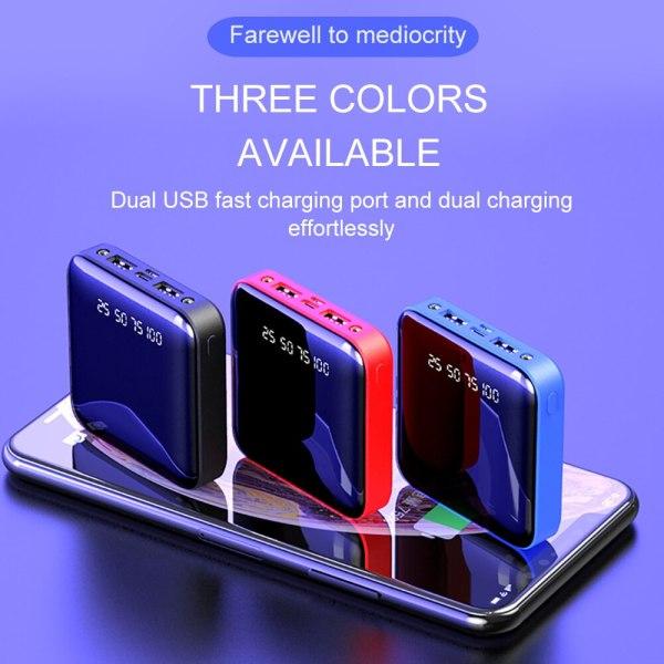 PINZHENG Mini 10000mAh Power Bank For Xiaomi Mi Power Bank Portable Charger External Battery LED Digital