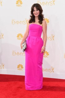 Zoey Deschanel in Oscar de la Renta