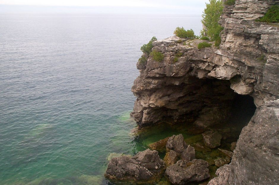 The Grotto at Bruce Peninsula National Park.
