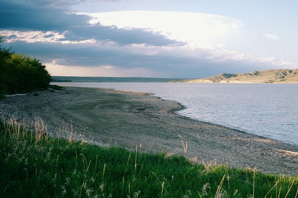 Lake Diefenbaker at Saskatchewan Landing Provincial Park.
