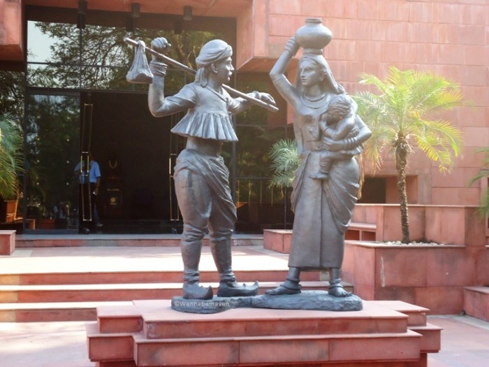 Inside Amul headquaters - Statue of Indian dairy farmers - amul dairy anand