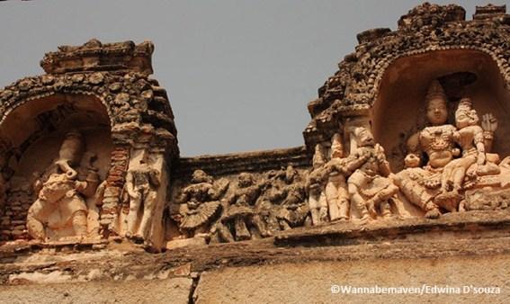 Carvings at Hampi UNESCO ruins