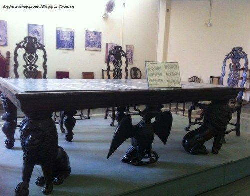 Table of Goa Inquisition at Goa State Museum