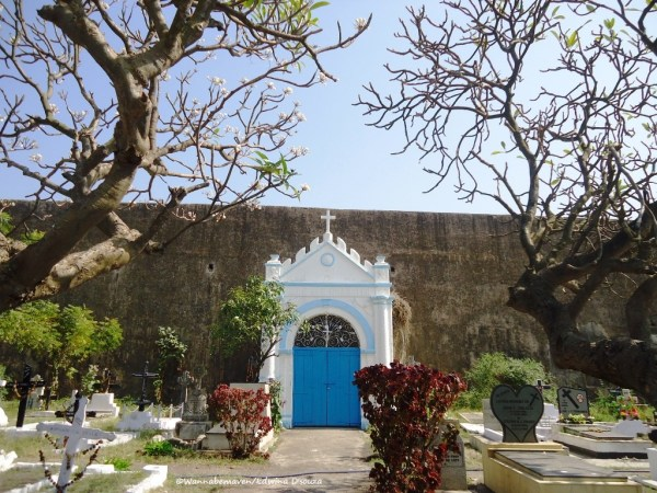 Chapel and Portuguese cemetry inside sao jeronimo fort - Daman