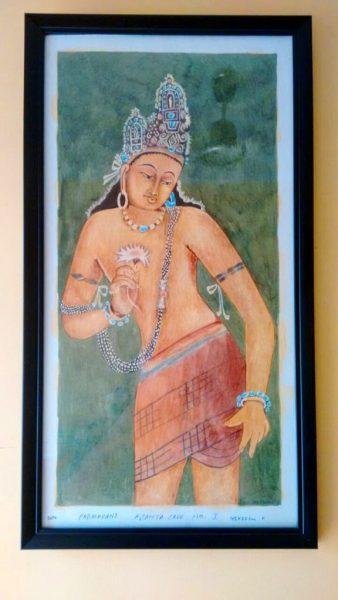 Bodhisattva Padmapani painting - Ajanta caves - explore aurangabad