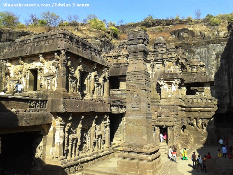 Ellora caves - cave no. 16 - largest caved Kailash temple - explore aurangabad