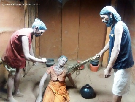 Wax statues depict the ritual of Exorcism practiced among tribes