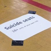 Suicide seats