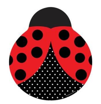 """Lady Bug Shaped Plates 9"""" - 8CT-0"""