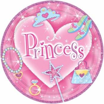 "9"" Lunch Plates Prismatic Princess - 8PC-0"