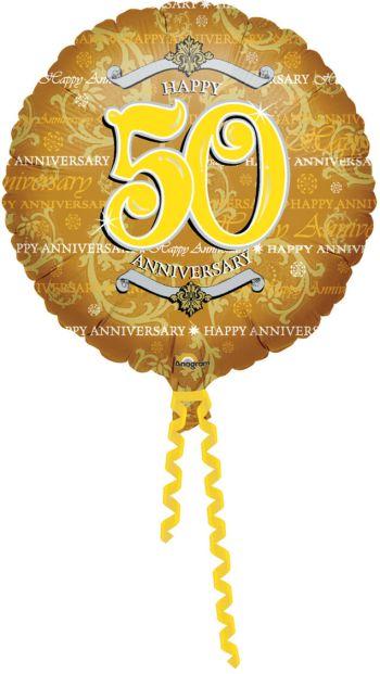 """18"""" Golden Anniversary (50th) Balloon S40 -0"""