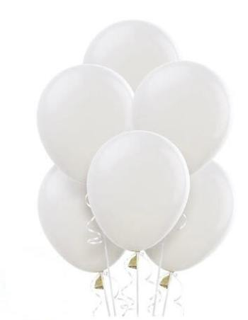 "12"" White Latex Balloons - 10ct-0"