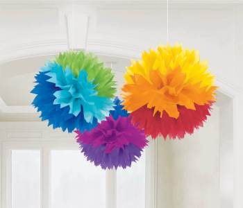 Multicolor Fluffy Decoration - 3CT-0