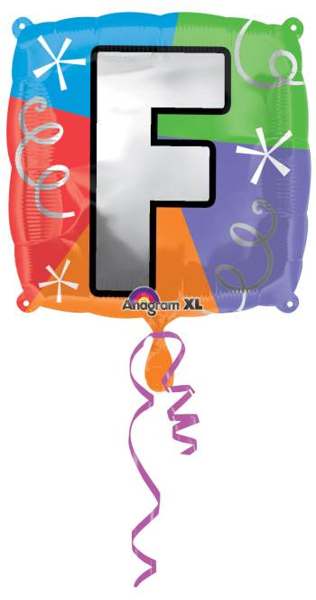 "18"" Square Letter F Balloon S30-0"