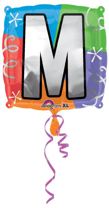 "18"" Square Letter M Balloon S30 -0"