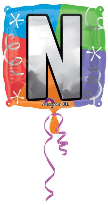 "18"" Square Letter N Balloon S30 -0"