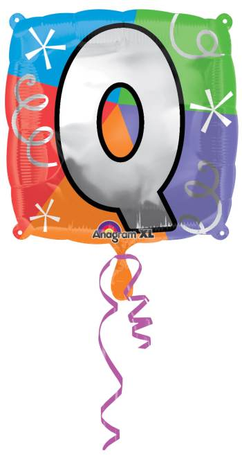 "18"" Square Letter Q Balloon S30 -0"