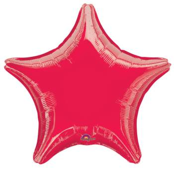 Foil Red Star Balloon 19in S15-0