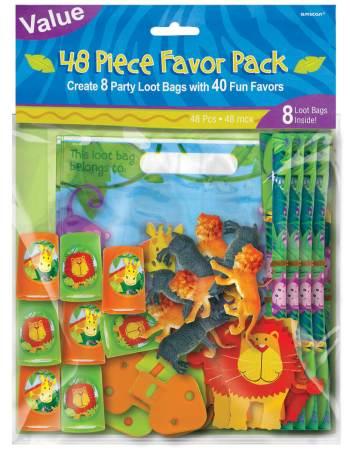 Jungle Animal Mega Valur Favor Pack - 48ct-0