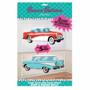 Rock & Roll Vintage Cars Scene Setters Add On-0