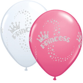 "12"" Glitter Princess & Rose Balloons - 2ct-0"