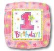 """18"""" Square One-Derful Birthday Girl Balloons S40-0"""