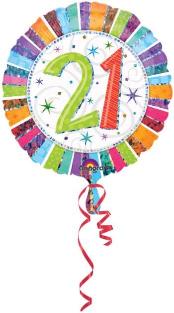 "18"" 21st Birthday S60-0"