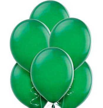 "8"" Dark Green Latex Balloons -20ct-0"