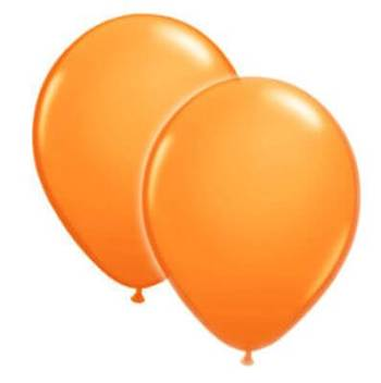 "8"" Orange Latex Balloons -20ct-0"