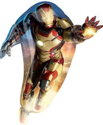 "Iron Man Super Shape Foil Balloon 42""-0"