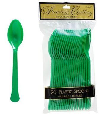 Spoons Premium Plastic Tree Green - 20CT-0