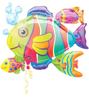 "Tropical Fish Cluster Super Shape Balloon 30"" P40-0"