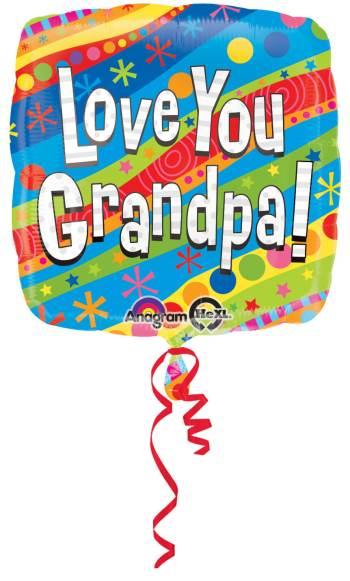 """Colorful Love You Grandpa 18"""" S40-0"""