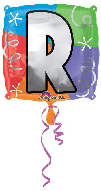 "18"" Square Letter R Balloon S30 -0"