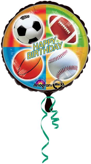 "Championship Sports Birthday Balloon 18"" S40-0"