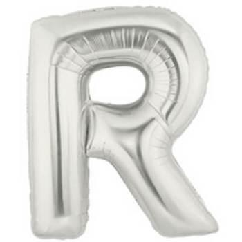 Letter R Silver Mylar Balloon-0