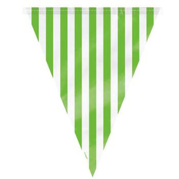 Striped Flag Buntings Green - 9FT-0