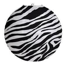 Zebra Print Paper Lantern-3CT-0