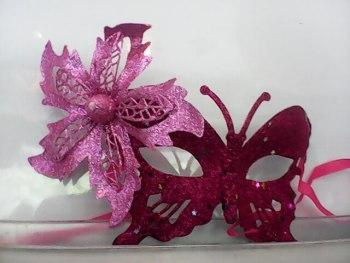 Glitter Butterfly Eye Mask Pink-0