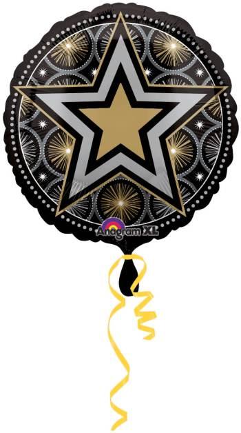 """Glitter Starz Print Balloon 18"""" S30-0"""