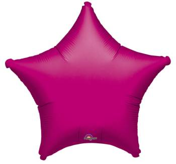 "Metallic Fuchsia Star Balloon 19"" S15-0"