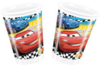 Cars Plastic Cups 200ml - 8CT-0
