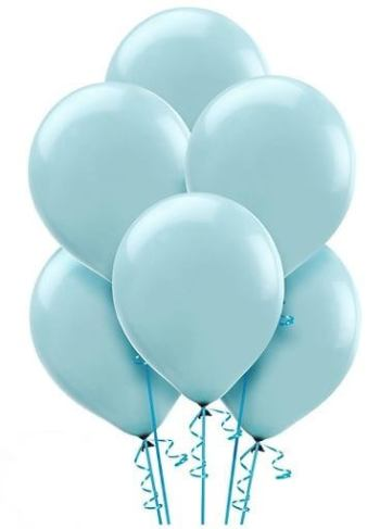 "12"" Light Blue Latex Balloons - 100CT-0"