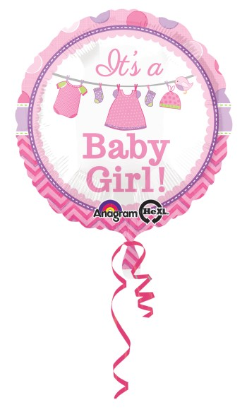 "Showe with Love Girl 18"" Balloons S40-0"