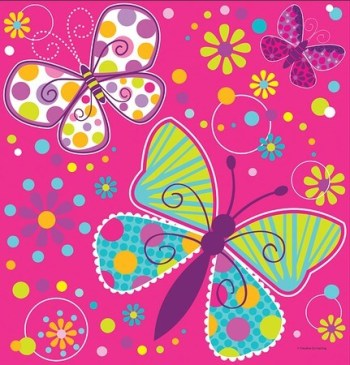 "Butterfly Sparkle Table cover 54x108""-0"